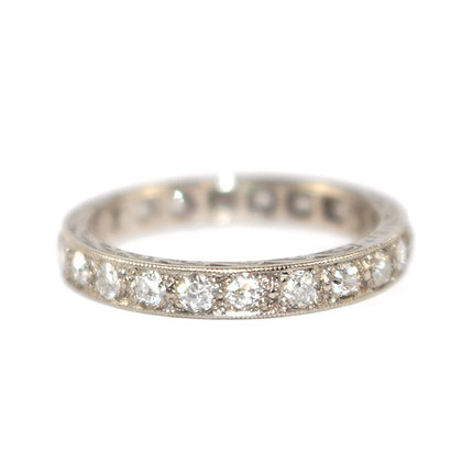 Art Deco Oldcut Diamond Full Eternity Ring c.1930 Size P