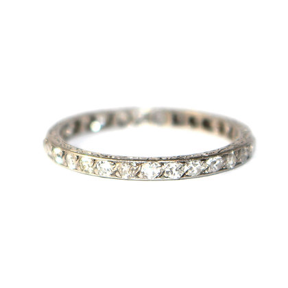 Art Deco Diamond 'Skinny' Eternity Ring c.1920 size P