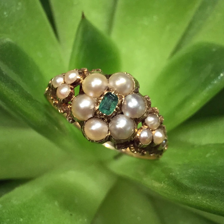 Georgian Emerald Pearl Ring 1.jpg