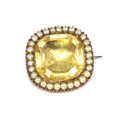 Georgian Citrine Brooch
