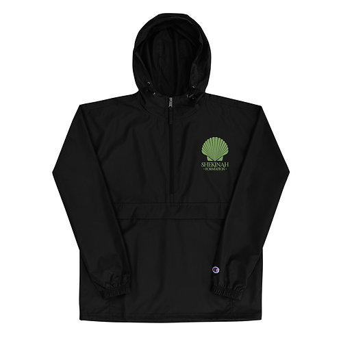 Green Embroidered Champion Packable Jacket
