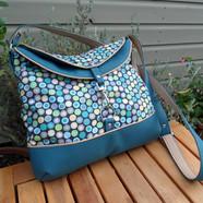 Hobo bag Turquoise spots