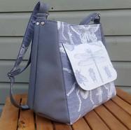 Messenger bag Grey dragonfly