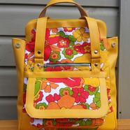 Convertible bag yellow red summer flower