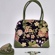 Lania Avocado green and Kimono print
