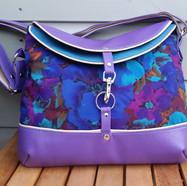 Hobo Bag, purple and torquoise