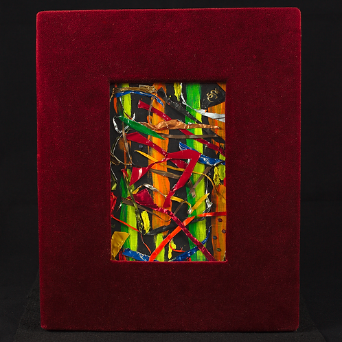 Wine Art in a Red Frame