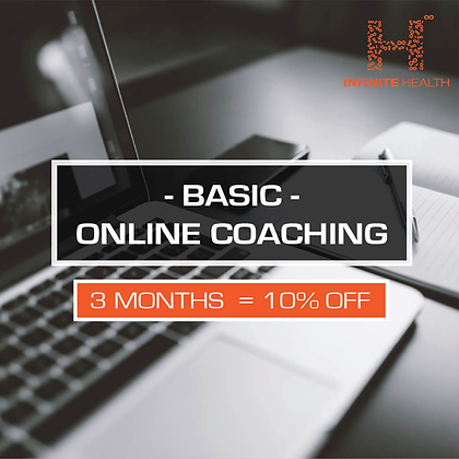 Basic Package 3 Months - Online Coaching