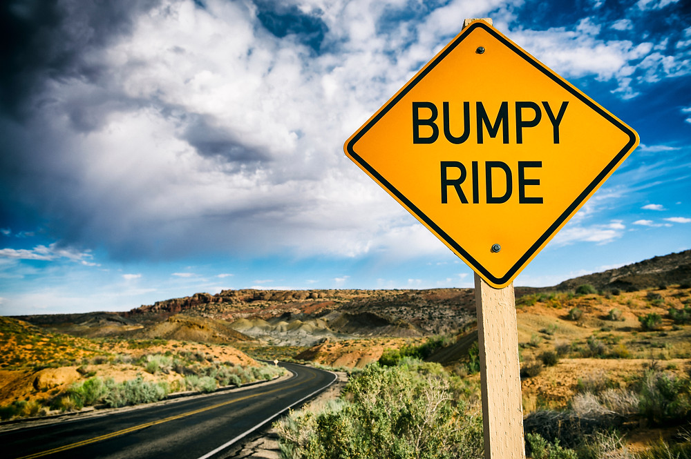 """Road sign """"bumpy ride"""". Represents the need for family counseling katy, tx and family therapy in katy, tx. Also represent the need for family counseling Houston, tx."""