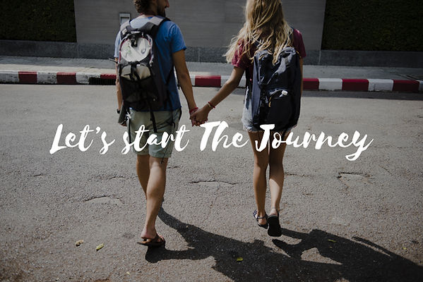 Couple with backpacks let's start the journey. Represents the need for a marriage therapist katy, tx 77494.  Also represents the need for marriage counseling katy, tx and couples therapy katy, tx 77494.
