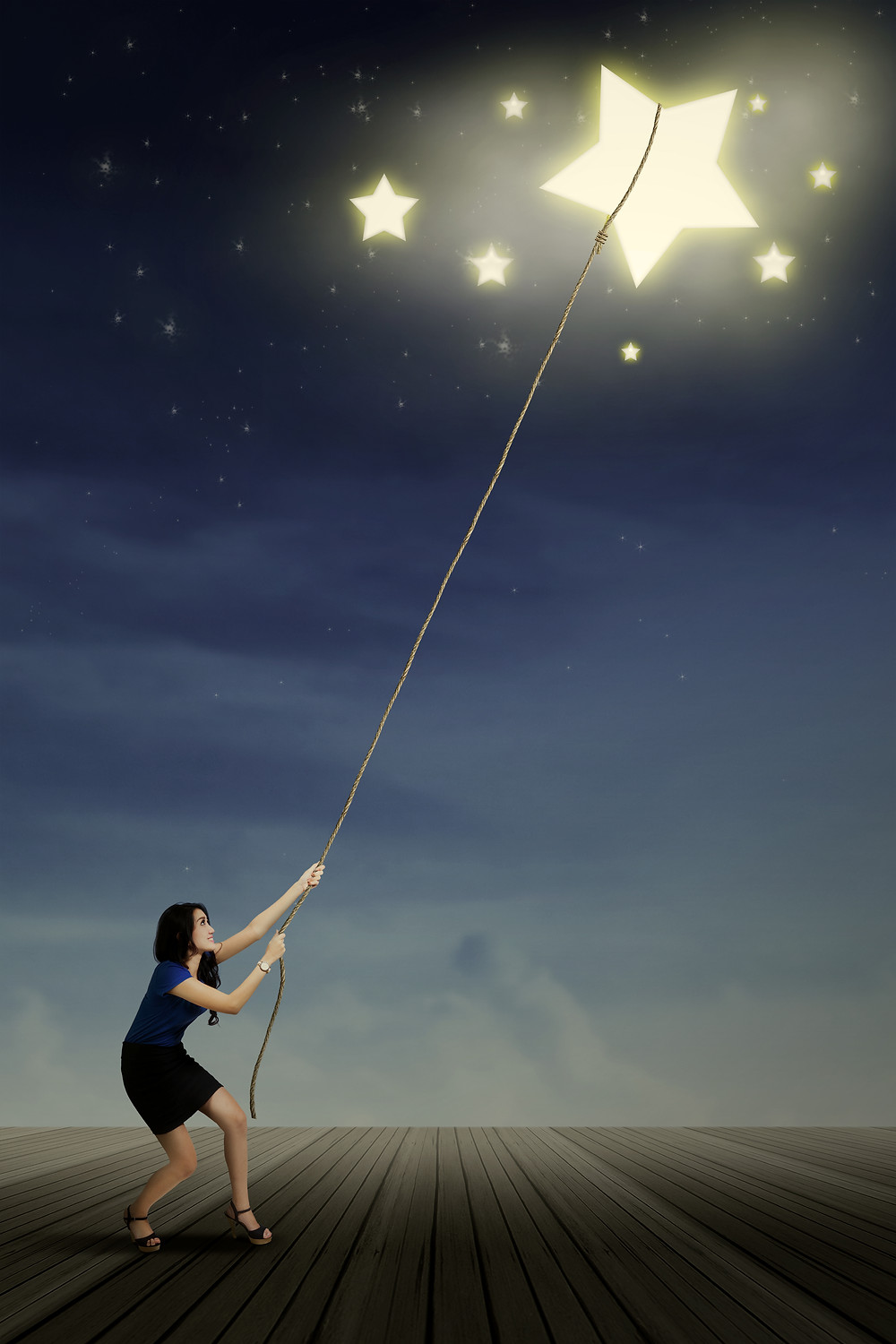 Teen girl roping a star. Represents counseling services katy texas 77494. Also represents EMDR in houston texas.