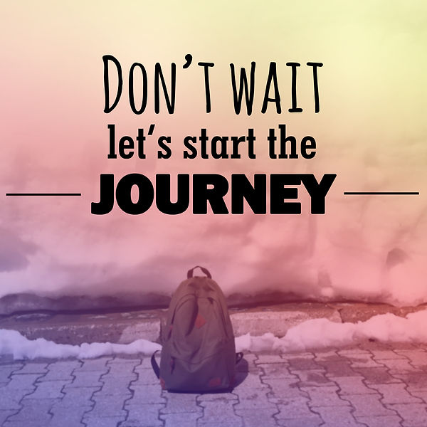 Backpack and words don't wait let's start the journey. Represents the need for teens and families to start teen substance abuse couneling katy, tx. Also represnts family counseling, teen counseling, and counseing for teens in Katy, tx and Houston, tx.