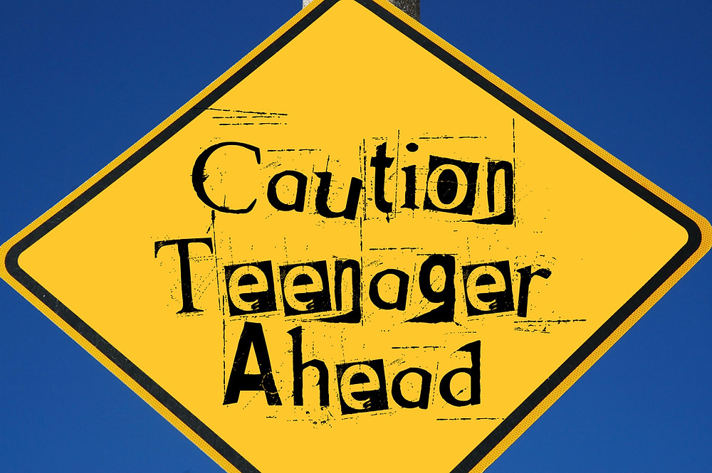 Road sign saying caution teenager ahead. Represents the need for teen anxiety counseling in katy tx and a counselor for teen depression in katy tx. Also represents teen counseling houston.