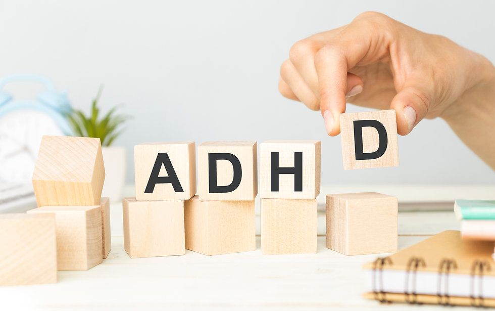 Hand spelling out ADHD with wood blocks. Represents teen ADHD neurofeedback in katy texas 77494. Also represents neurofeedback in Houston Texas.