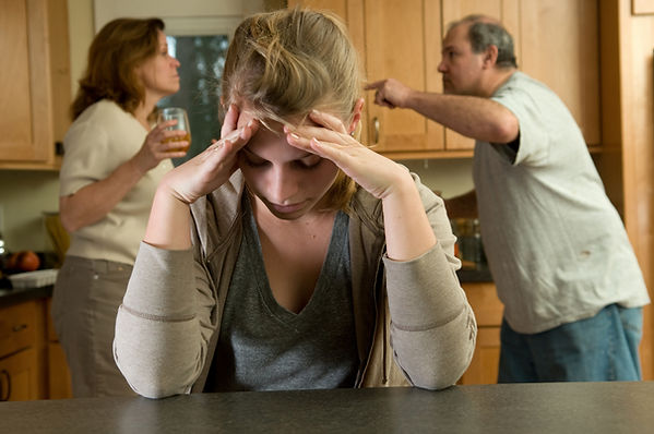 mother and father arguing with teen looking sad. Represents the need for marriage counseling katy, tx and couples therapy katy, tx 77494. Also represents couples counseling katy, tx 77494.