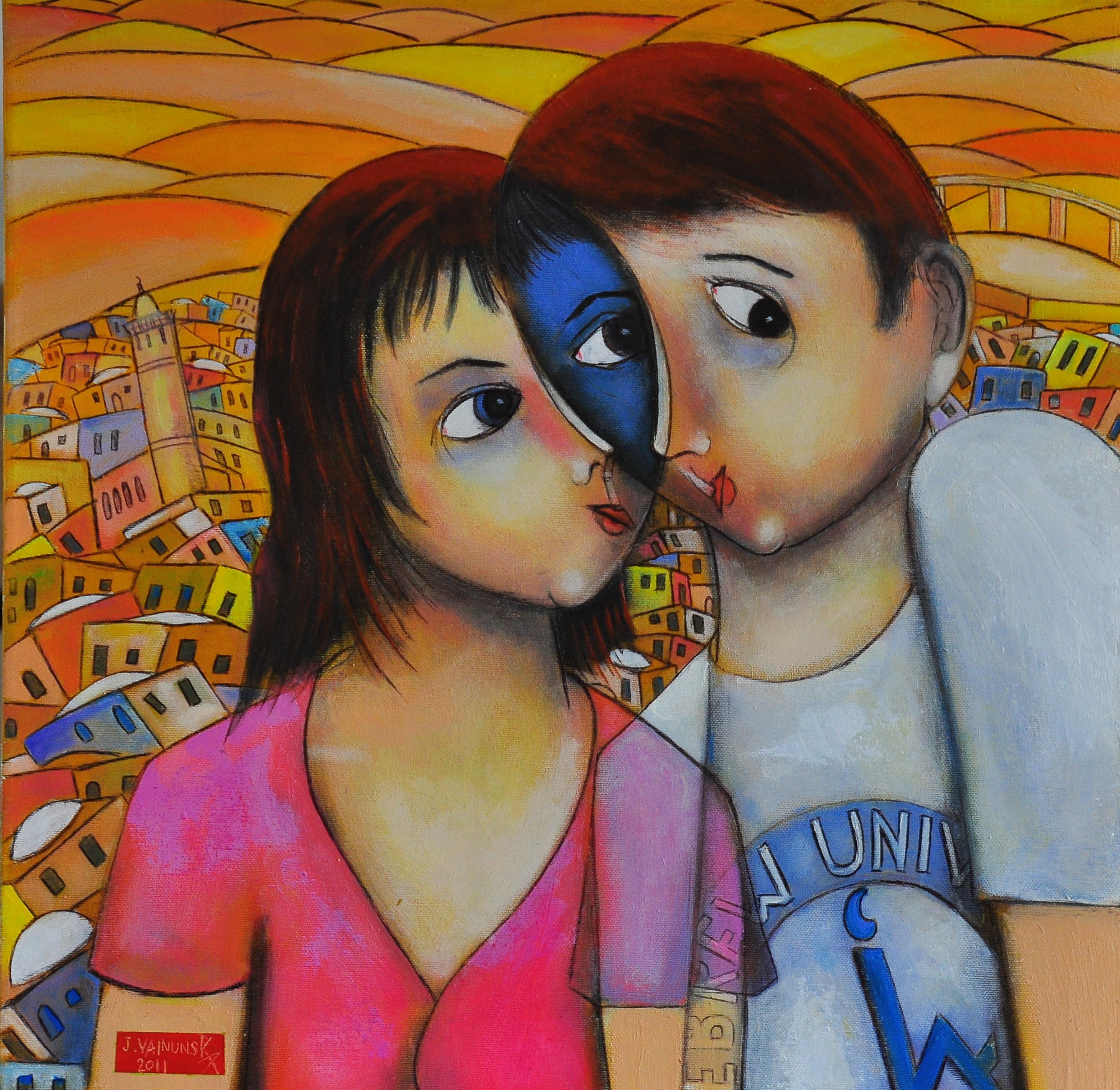 THE LOVERS OF JERUSALEM, Acrylic, 50 x 5