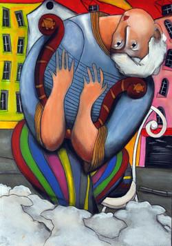 David Acrylic on canvas 60x50cm, 2013
