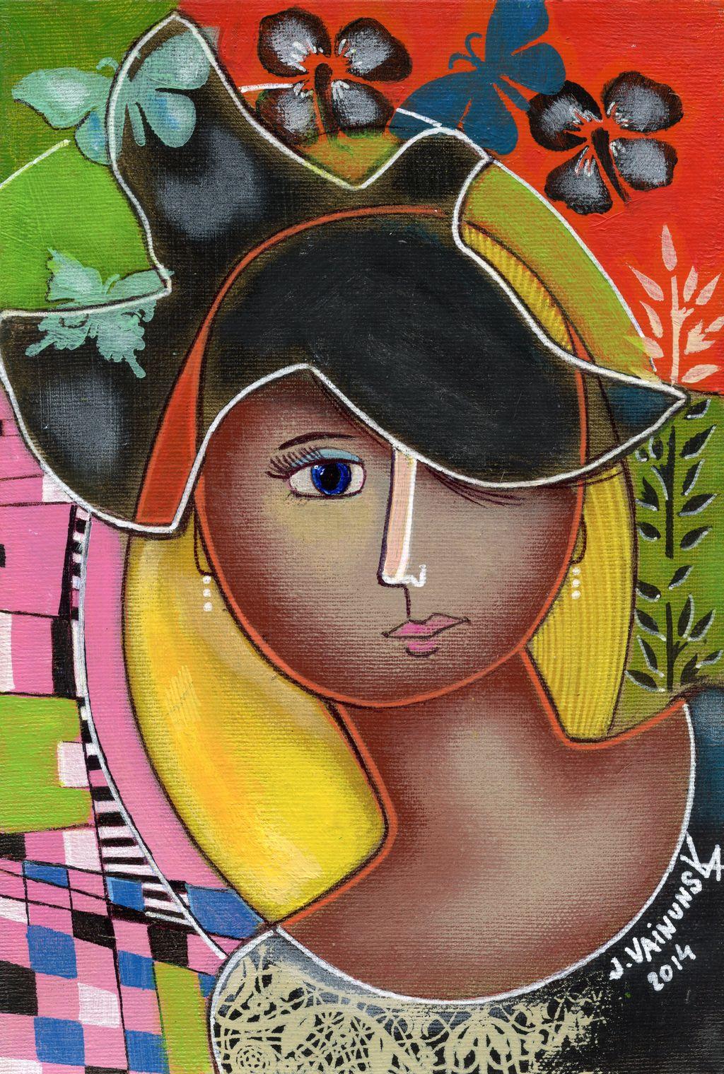 Portrait, acrylic 20x 30 cm