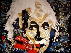 EINSTEIN'S VIOLIN, Acrylic on canvas 120