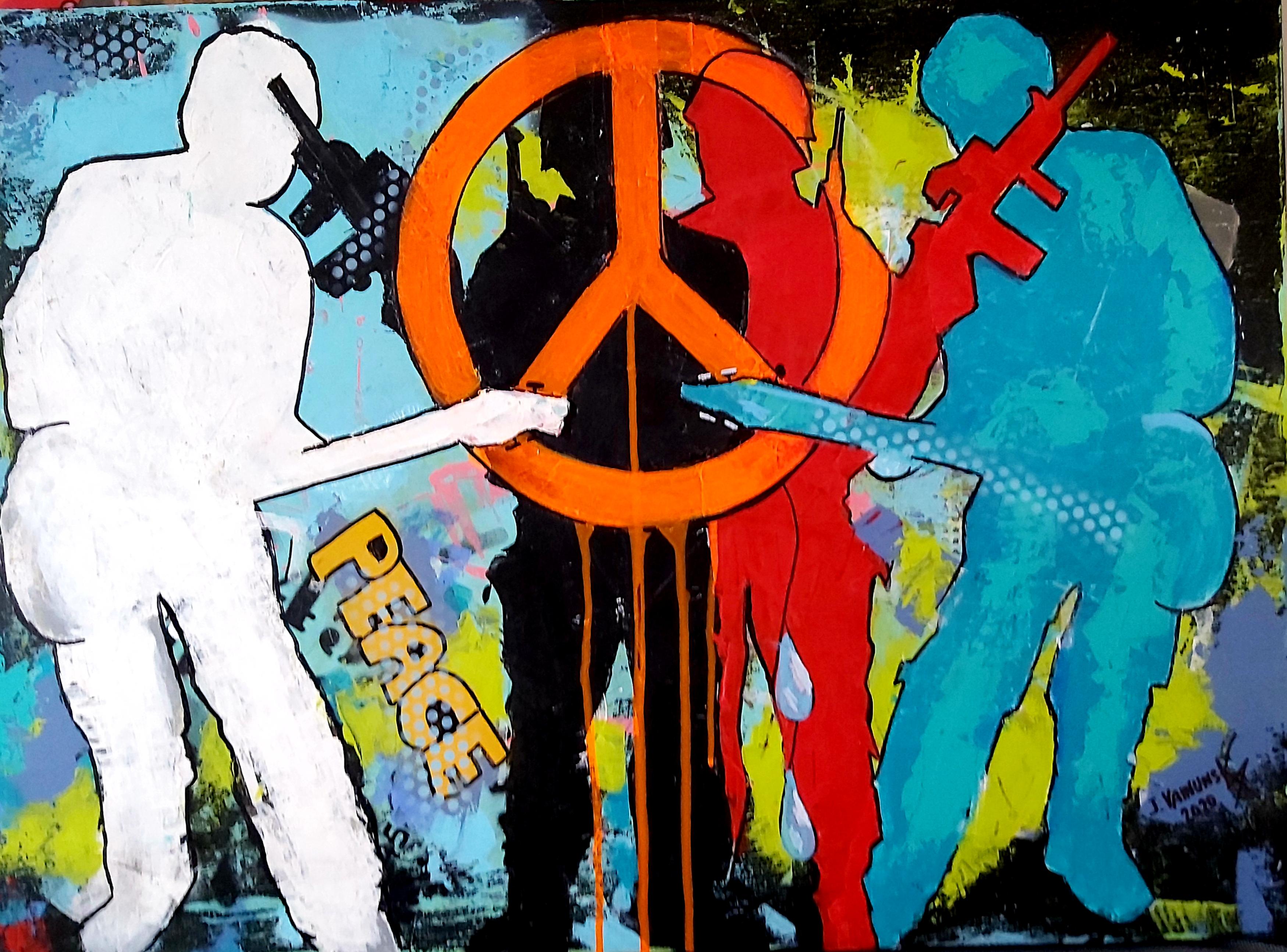 WAR & PEACE, Acrylic on canvas, 100 x 70