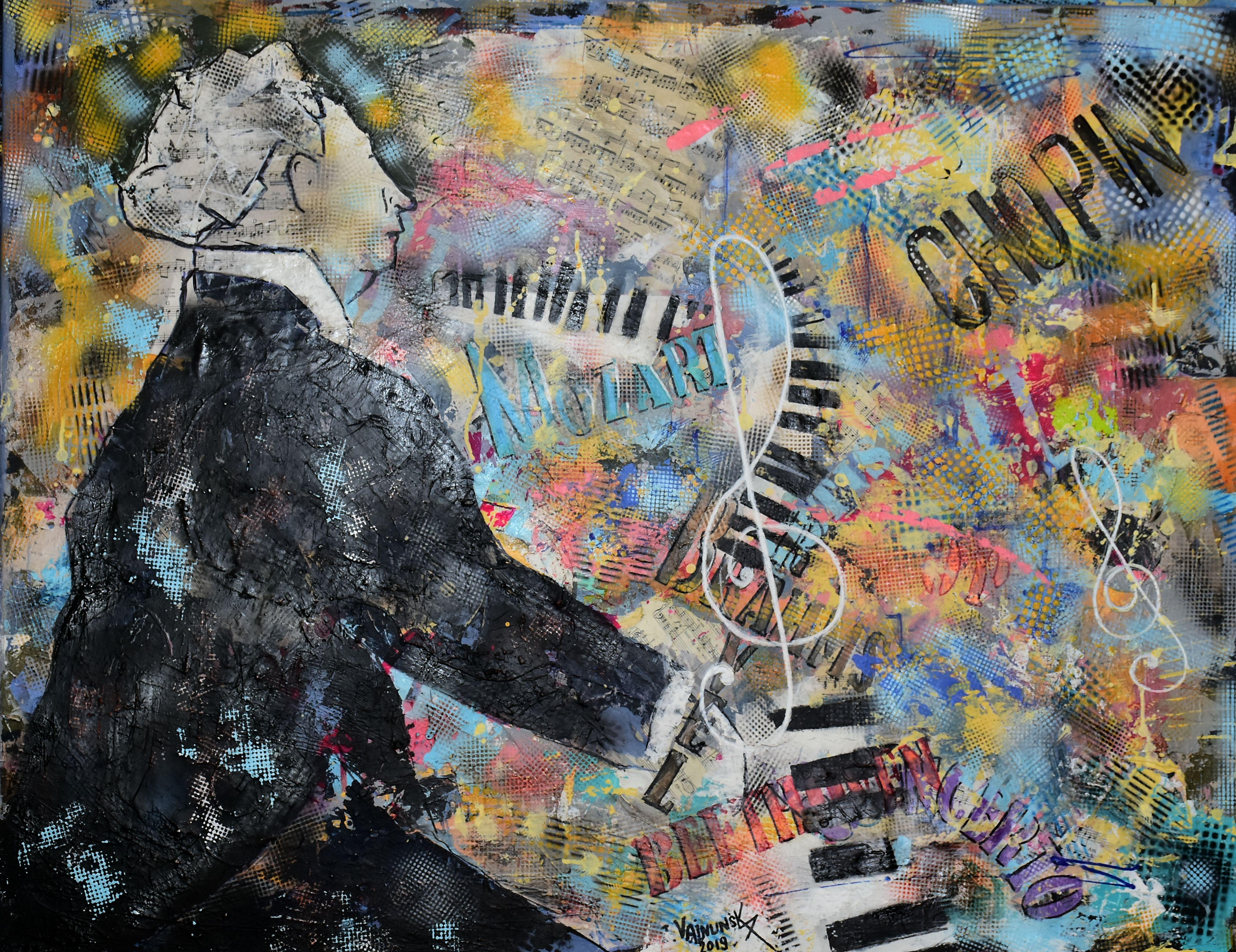 ARTHUR RUBINSTEIN, Acrylic on canvas' 90
