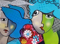 The blue dove, acrylic on cnvas 40 x 30