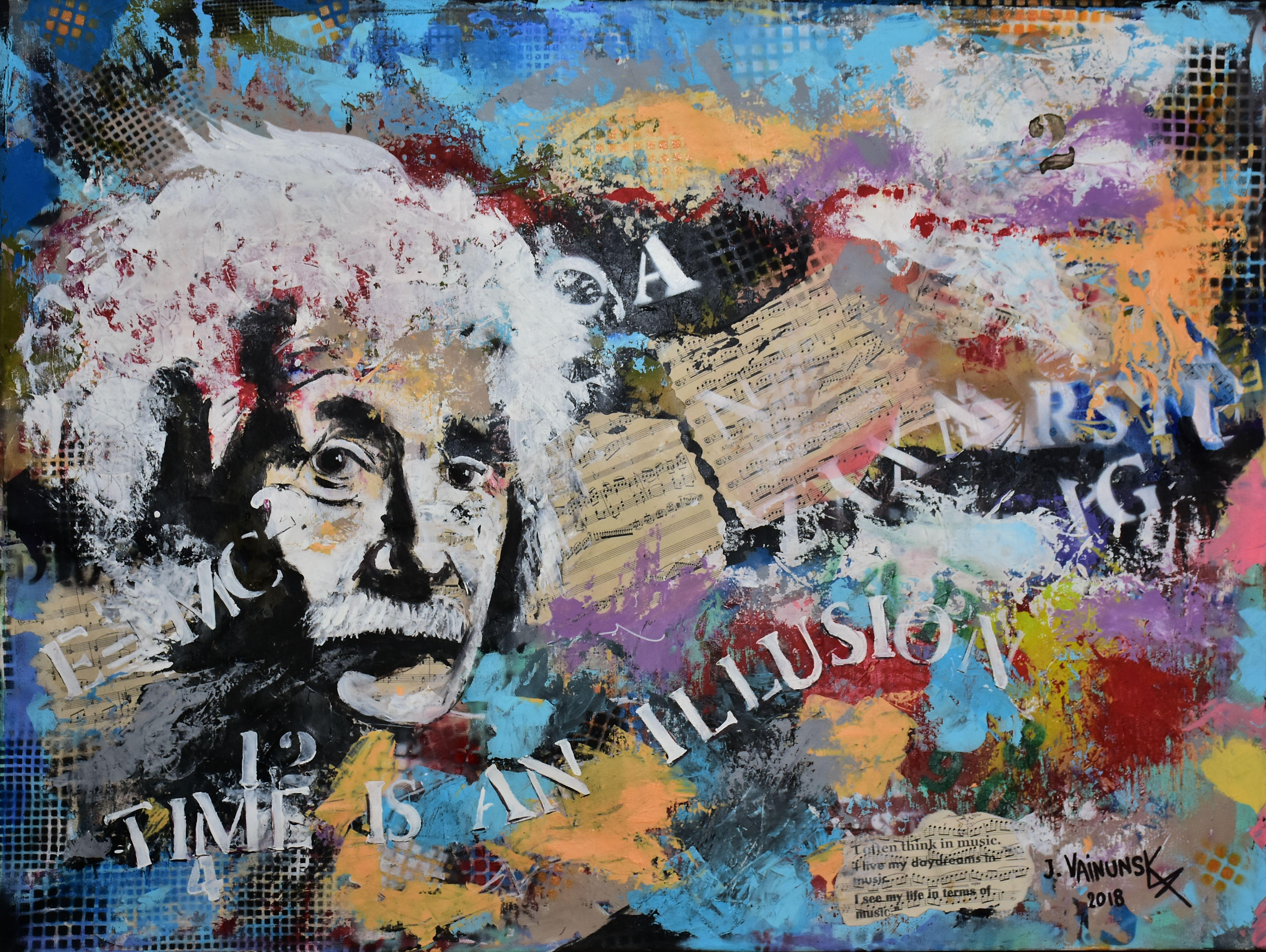 A EINSTEIN,'' Time is an illusion'' Acr