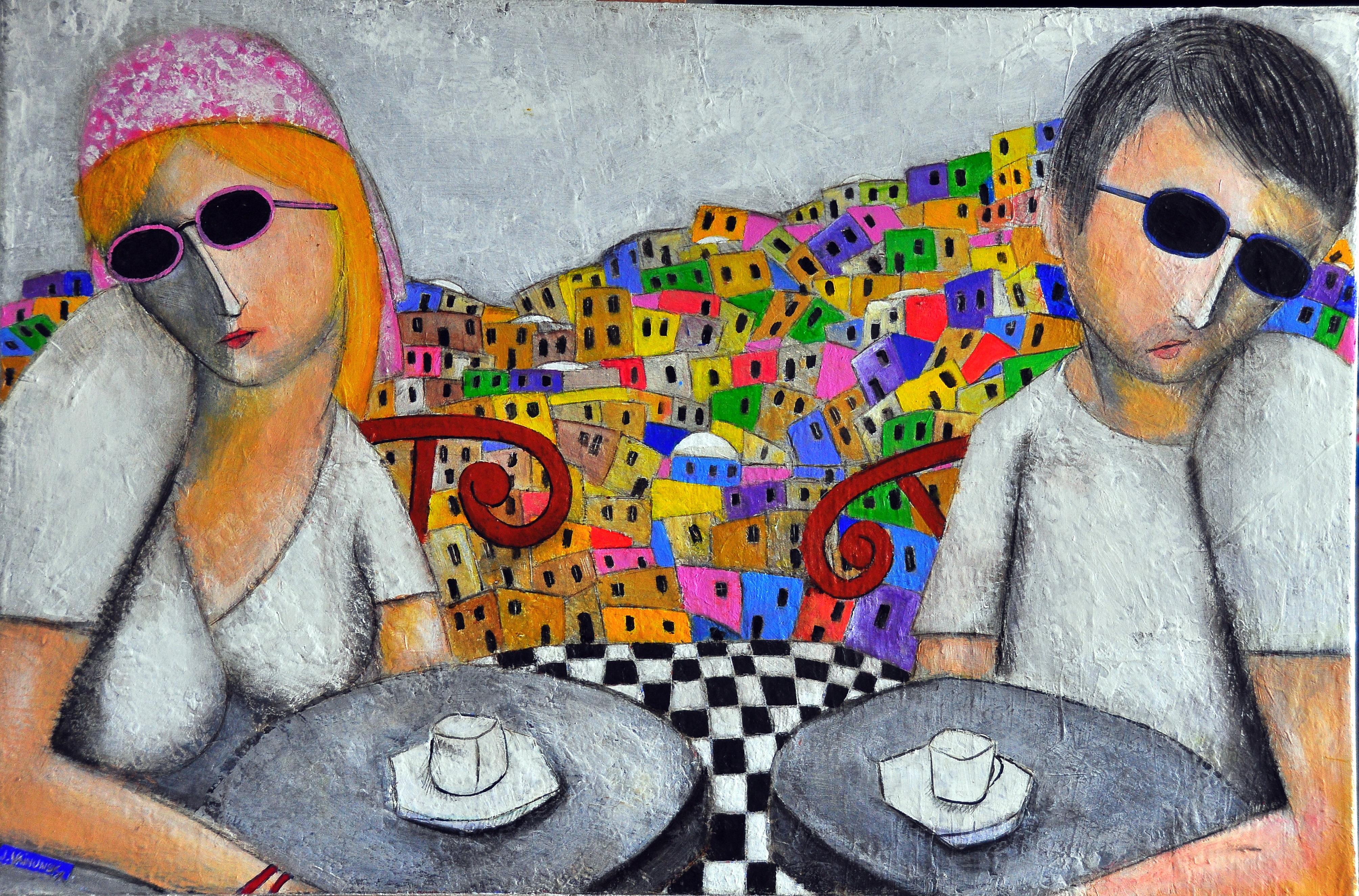 THE LOVERS OF JERUSALEM, Acrylic, 77 x 5