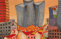 Azrieli Towers-Tel  Aviv 100 x 80 cm(acr
