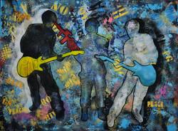 WAR & PEACE, Acrylic on canvas, 90 x 120