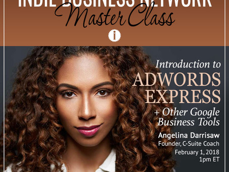 Indie Business Network invited Angelina Darrisaw for it's monthly Master Class