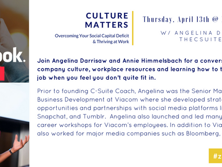 """Navigating Work Culture"" With Zicklin Business School"