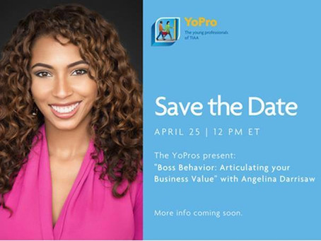TIAA Young Professionals Host Angelina Darrisaw For Business Value Workshop