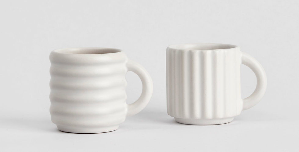 Ripple Espresso Cups Set of 2