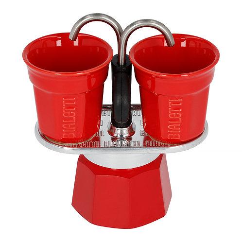 Bialetti Mini Express 2 kops - rood