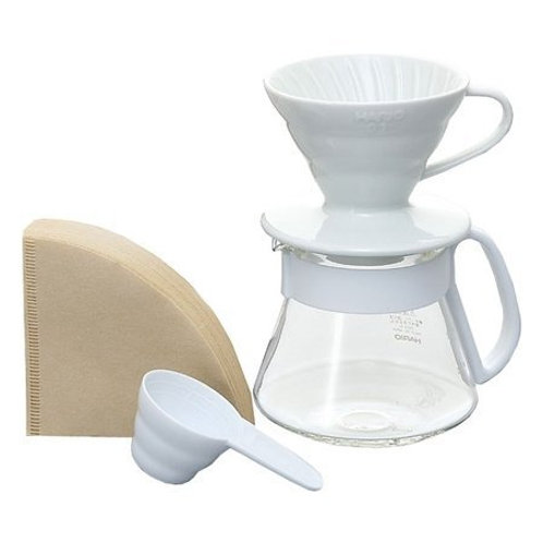 Hario V60 Pour Over Kit - White