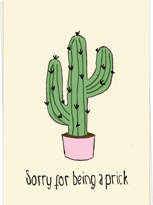 Sorry for being a prick