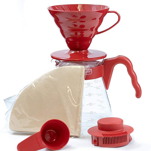 HarioV60 Pour Over Kit - Rood