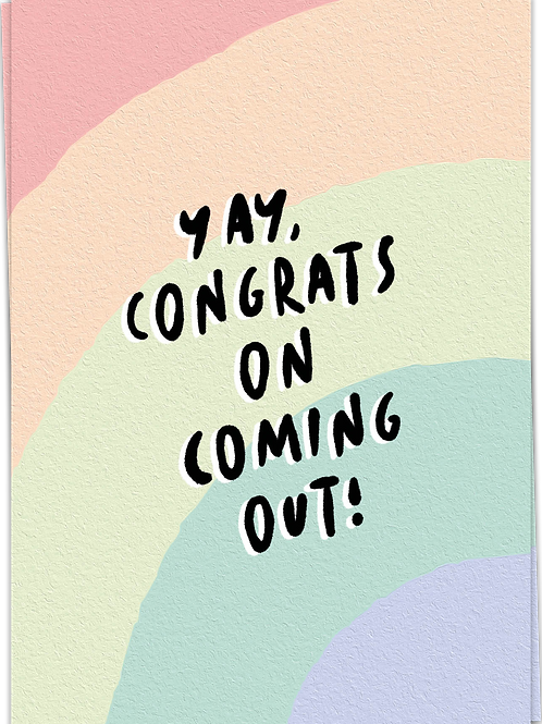 Yay, congrats on coming out!