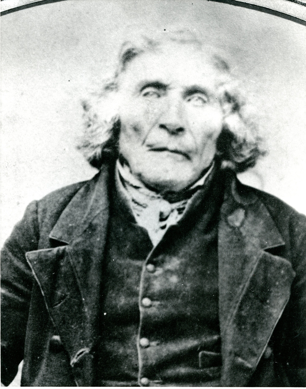 Black and white image of Daniel Stong