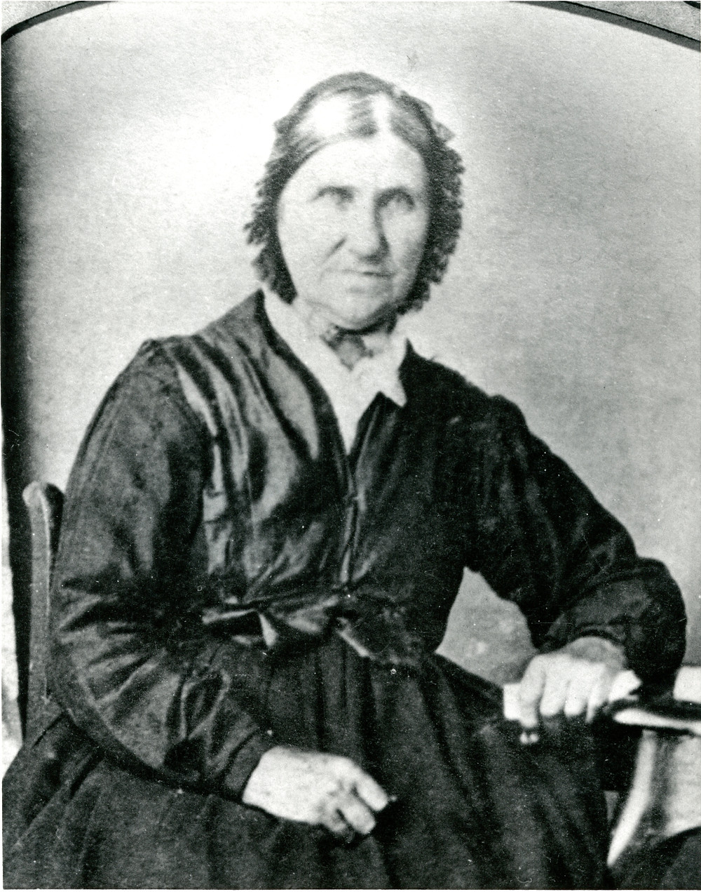 Black and white image of Elizabeth Fisher Stong