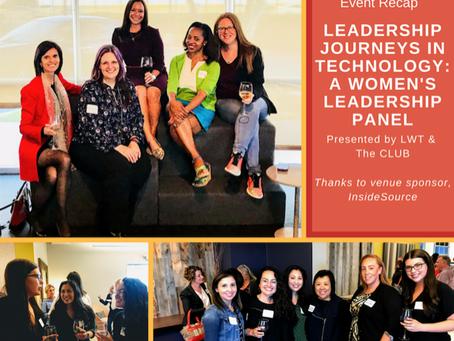 Leadership Journeys in Technology Event Recap: A Women's Leadership Panel