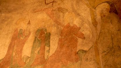 Fresko links Gutleuthofkapelle