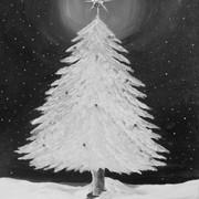 Snowy Tree in Silver - 2hr .JPG