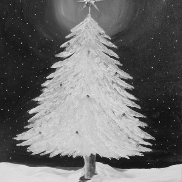 Snowy Tree in Silver - 2hr .JPG