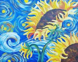 3 Hour - Starry Sunflowers