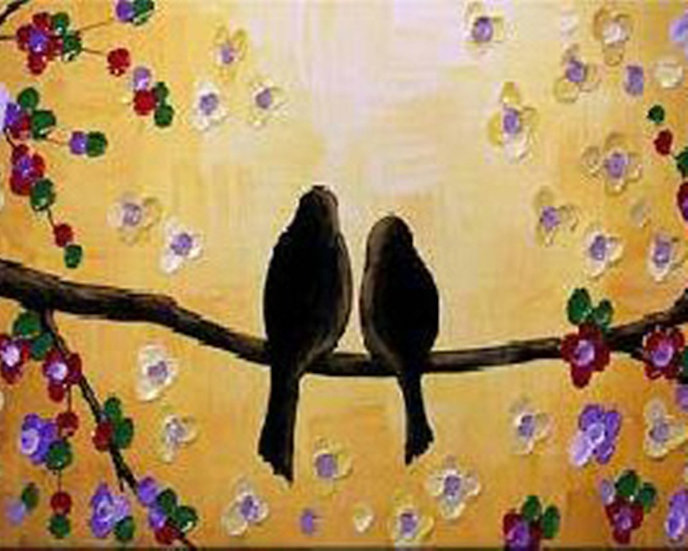 Lovebird Sunset