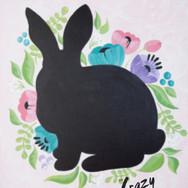 Floral Rabbit Chalkboard