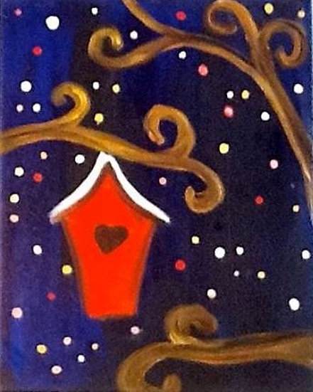 Red Birdhouse I