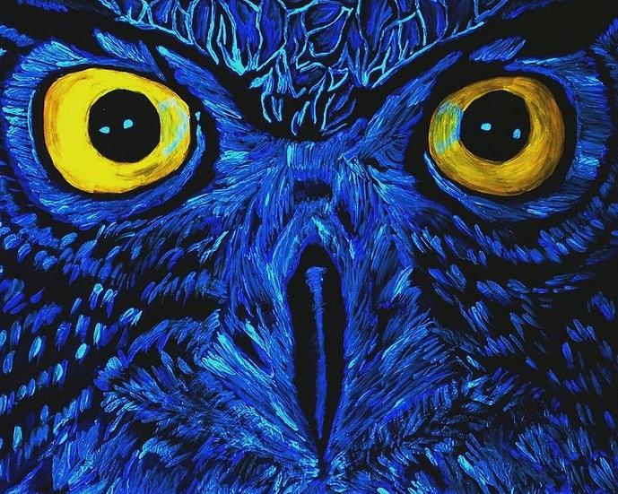 Neon Owl Eyes
